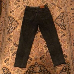 Levi's Jeans - Levi's high waisted black mom jean